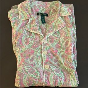 Ralph Lauren paisley night shirt